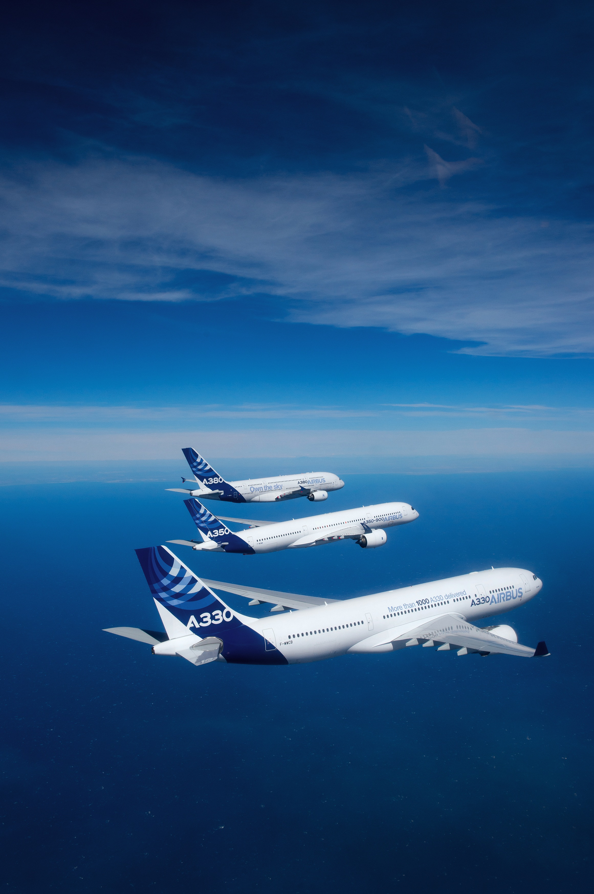 The Airbus widebody family in its first formation. Image: Airbus S.A.S.