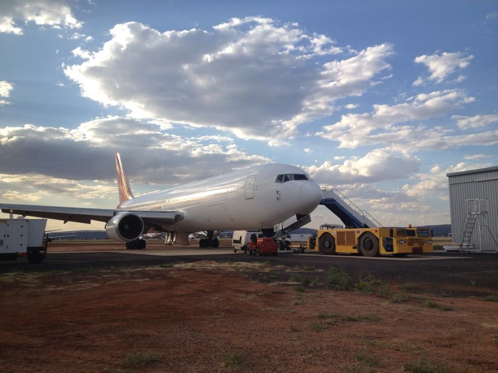 Qantas first B767-300ER VH-OGR to be retired at the facility. Image: APAS.