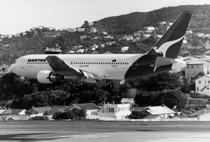 Day 2. VH-EAJ operates the inaugural 767 service as QF57 to Wellington. Image: Qantas Heritage Collection