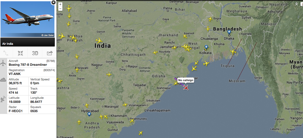 Air India's inaugural 787 to Sydney