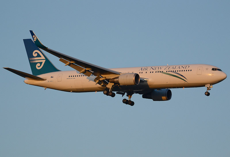 Air New Zealand Boeing 767-319ER ZK-NCJ. Image: Les Bushell.