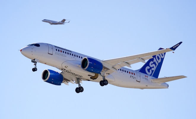 CSeries First Flight. Image: Bombardier Aerospace