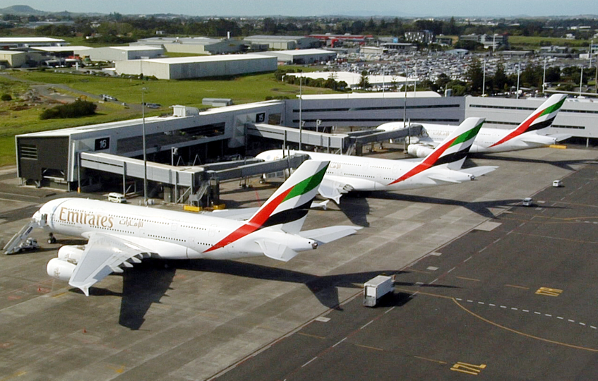 Emirates is taking over Auckland one A380 at a time. Image: Emirates.