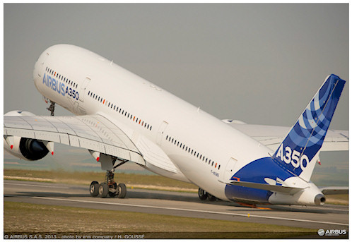 Airbus' A350 MSN001 undertaking VMU speed testing. Image: Airbus S.A.S.