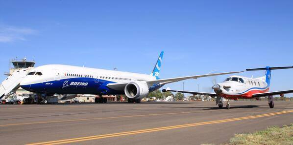B787-9 ZB002 at Alice Springs. Image: Alice Springs Airport.
